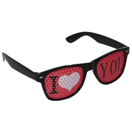 Pandoli I Love You Şekilli Parti Gözlüğü