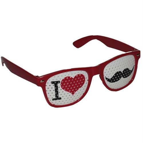 Pandoli I Love You Bıyık Temalı Parti Gözlüğü