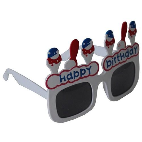 Pandoli Happy Birthday Eğlence Gözlüğü Beyaz