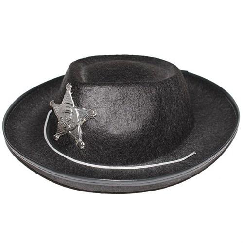 Pandoli Siyah Küçük Boy Sheriff Şapkası