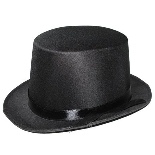 Pandoli Siyah Sihirbaz Şapkası Şeritli