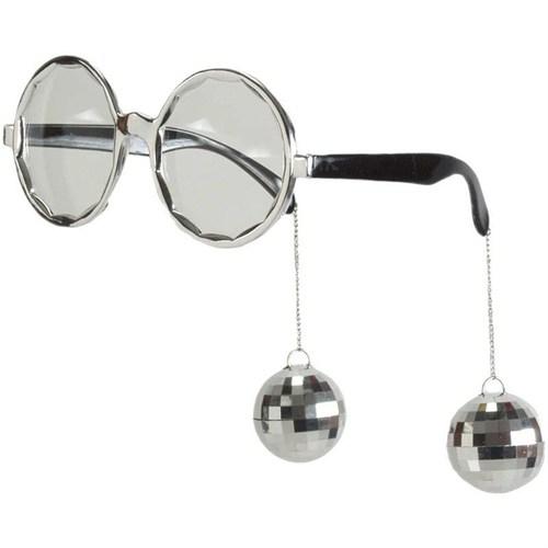 Pandoli Sallanan Disko Toplu Retro Partisi Gözlüğü - Gümüş