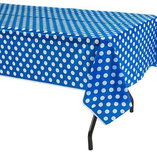 Mavi Puanlı Masa Örtüsü