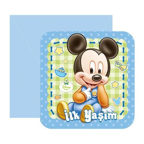 Baby Mickey Mouse İlk Yaşım Davetiye