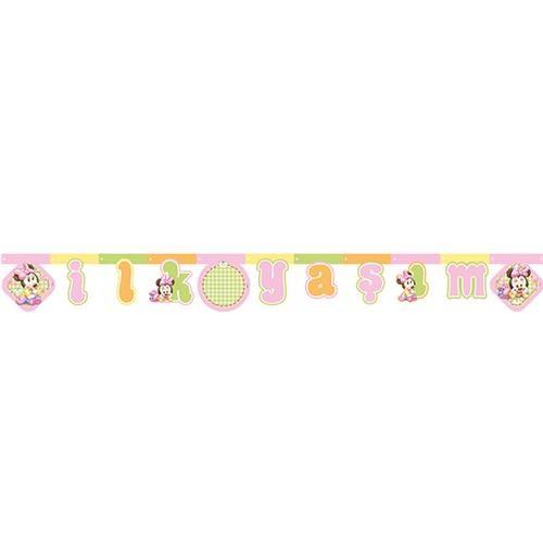 Partisepeti Baby Minnie Mouse İlk Yaşım Yazı Banner
