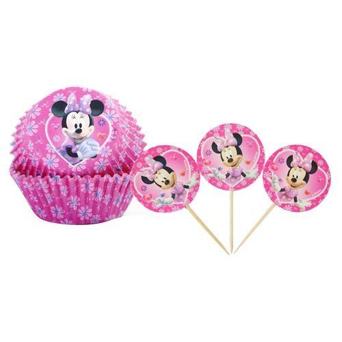 Partisepeti Minnie Mouse Cupcake Kabı Ve Kürdan 24 Lü Takımı