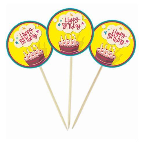 Happy Birthday Pastalı Kürdan Süs