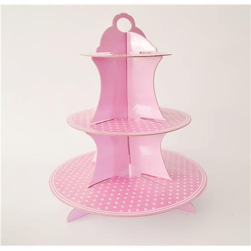 Pembe Puanlı Cupcake Standı