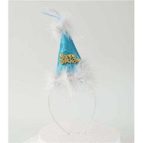 Partisepeti Mavi Külah Şapkalı Taç