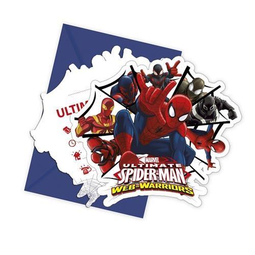 Spiderman Web Warriors Davetiye