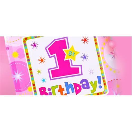 Partisepeti 1 Yaş Kız Doğum Günü Parti Seti