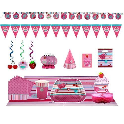 Partisepeti Çilek Kız Doğum Günü Parti Seti
