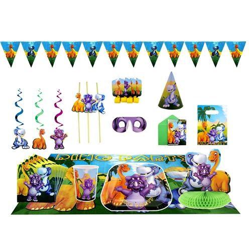 Partisepeti Dinozor Doğum Günü Parti Seti Lüx