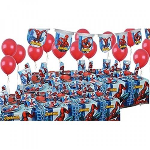 Spiderman Doğum Günü Parti Seti