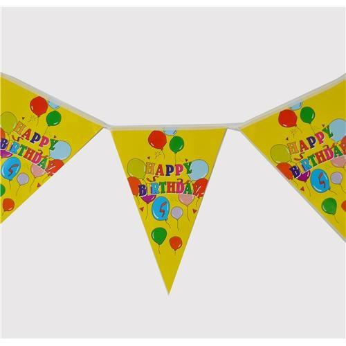 Balonlu Happy Birthday Bayrak Flama