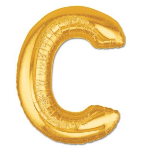 Partisepeti C Harf Gold Folyo Balon