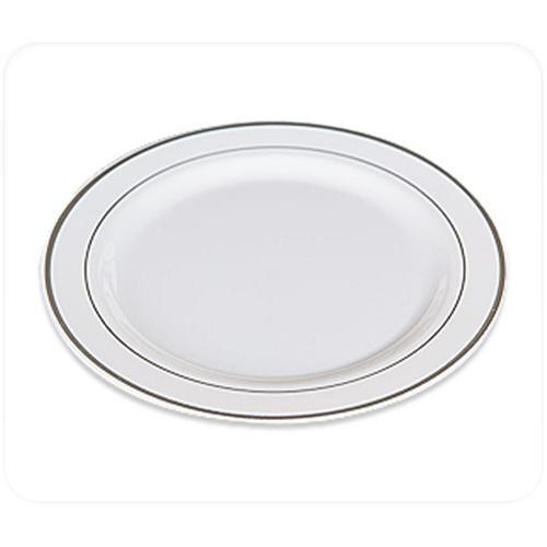 Beyaz Lüks Mika Tabak 6 Adet 26Cm