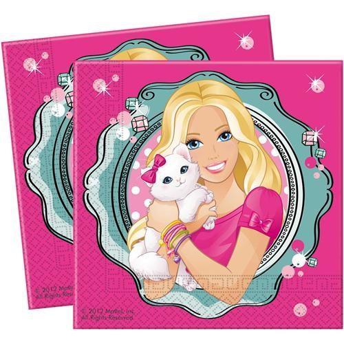 Partisepeti Barbie Kağıt Peçete