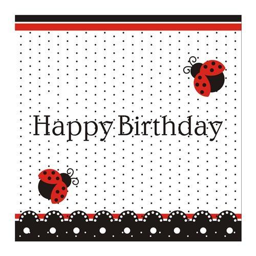 Uğur Böceği Happy Birthday Peçete