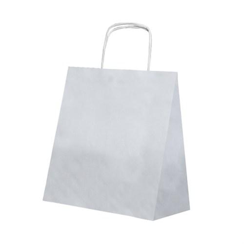 KullanAtMarket Gümüş Küçük Kraft Çanta
