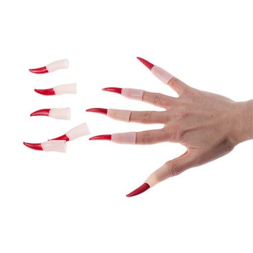 KullanAtMarket Kırmızı Takma Cadı Tırnağı