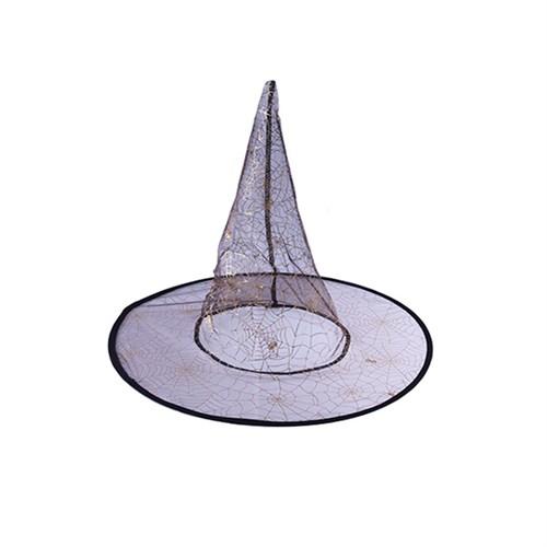 KullanAtMarket Altın Örümcekli Ağı Cadı Şapkası