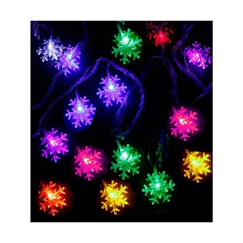 KullanAtMarket Yılbaşı Kar Taneleri Led Renkli Işık