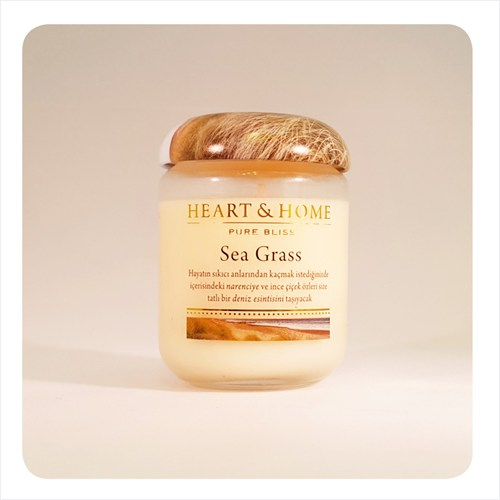 H&H Büyük Mum Sea Grass
