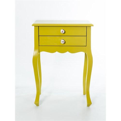 Woodenbend Nora Lake Sarı Komodin