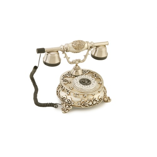 Anna Bell Villa Antik Ayaklı Gümüş Varaklı Telefon