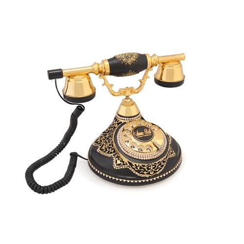 Anna Bell Antik Damla Siyah Varaklı Zirkon Telefon