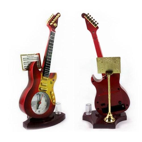 Hardymix Gitar Tasarımlı Dekoratif Masa Saati