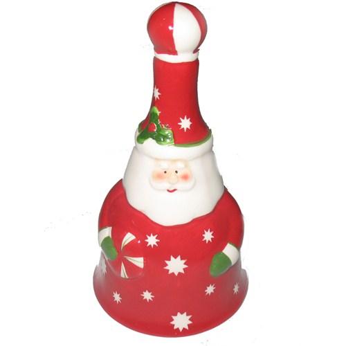 Puzmo Noel Baba Figürlü Seramik Yılbaşı Çanı