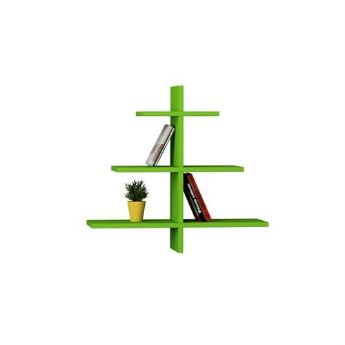 Decortie Ağaç Kitaplık Yeşil