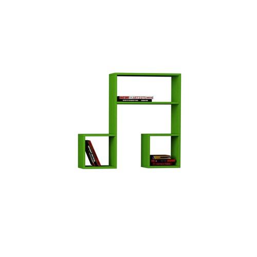 Decortie Lasido Kitaplık Raf Yeşil