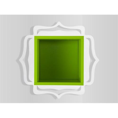 Decortie Ottoman Raf Beyaz-Yeşil