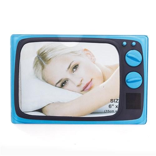 Nektar Televizyon Şeklinde Fotoğraf Çerçevesi Mavi