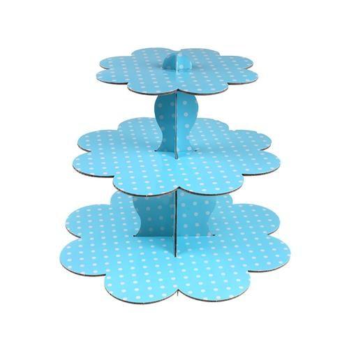 Açık Mavi Cupcake Standı