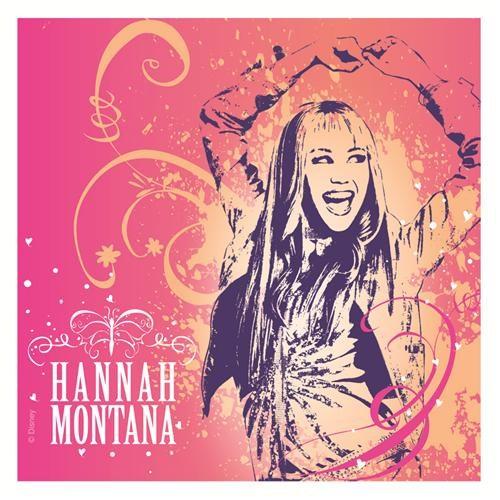 Hannah Montana Kağıt Peçete 33X33cm (20 Ad)