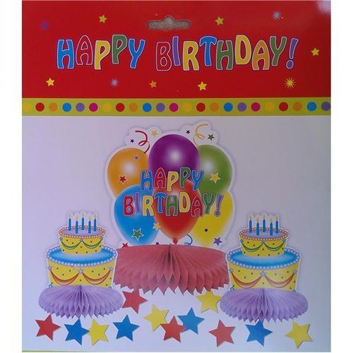 Happy Birthday Masa Orta Süsü 3 Adet