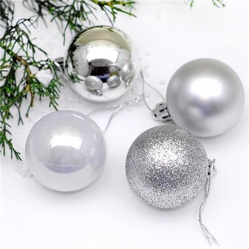 Partisepeti Gümüş Top Ağaç Süs 16'Lı