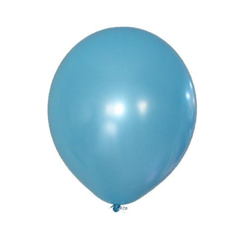 Metalik Turkuaz Balon 25 Adet