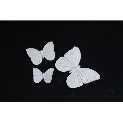 Hobi Polyester 3 Lü Kelebek Duvar Süsü