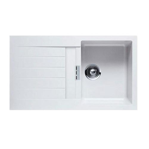 Schock Signus D100 Tezgaha Sıfır Beyaz Mutfak Evyesi
