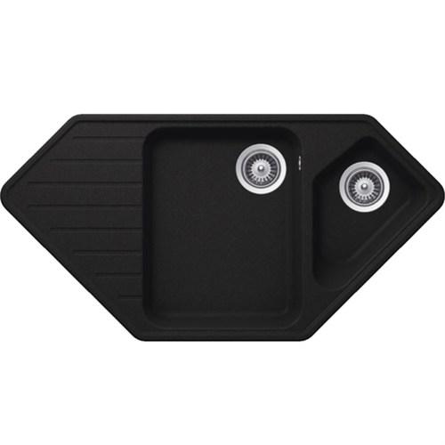 Schock Typos C150 Siyah Köşe Mutfak Evye
