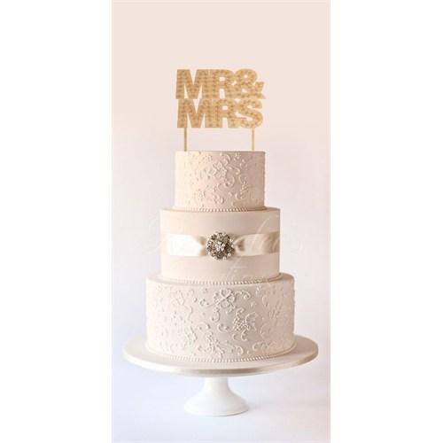 Ayşegül Evleniyor Ahşap Pasta Süsü 01