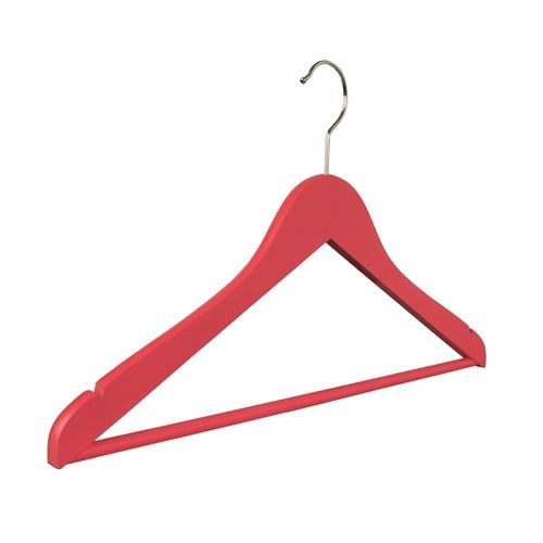 Nyn Ahşap 4'lü Pembe Mandallı Elbise Gömlek Askısı