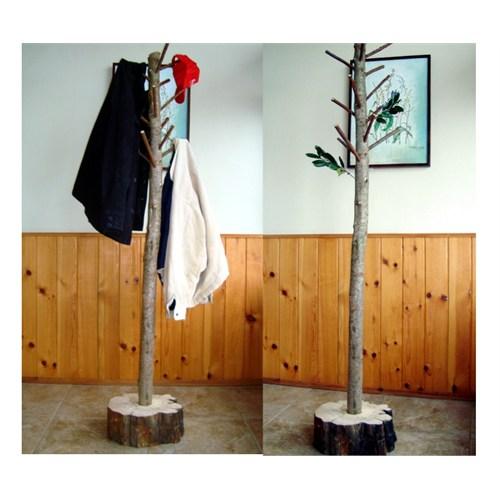 Kilizman Masif Doğal Ağaç Gövde Ve Dallı Elbise Askılığı