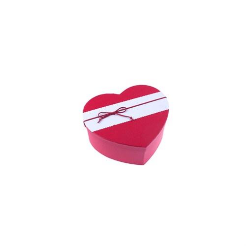 KullanAtMarket Fiyonklu Kırmızı Kalp Kutu Küçük Boy