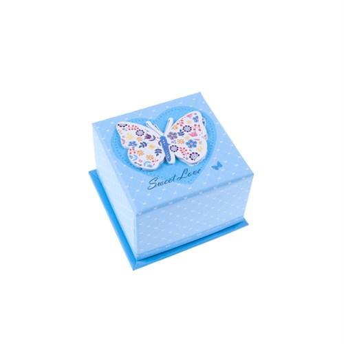KullanAtMarket Mavi Kelebek Hediye Kutusu